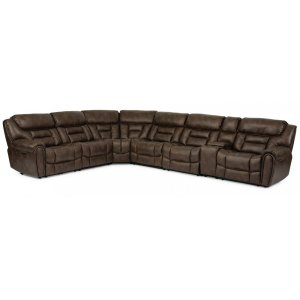 FlexsteelBuster Power Reclining Sectional with Power Headrests