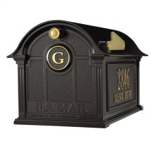 Balmoral Mailbox Side Plaques and Monogram Package - Black