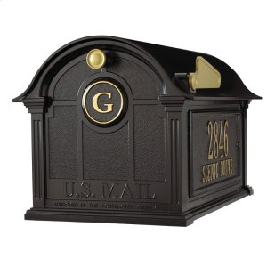 Balmoral Mailbox Side Plaques and Monogram Package - Black Product Image