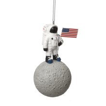 Astronaut on the Moon Ornament.