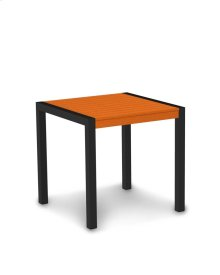 "Textured Black & Tangerine MOD 30"" Dining Table"
