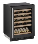 """1000 Series 24"""" Wine Captain® Model With Black Frame Finish and Field Reversible Door Swing (115 Volts / 60 Hz) Product Image"""