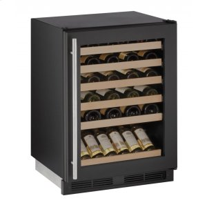 "U-Line1000 Series 24"" Wine Captain(r) Model With Black Frame Finish and Field Reversible Door Swing (115 Volts / 60 Hz)"