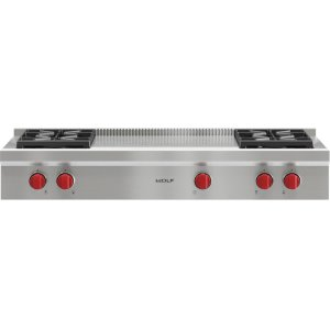 "Wolf48"" Sealed Burner Rangetop - 4 Burners and French Top"