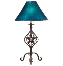Forged Iron Table Lamp 020CONCHO (without shade)