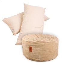 Pillow Pod Footstools - Corduroy - Khaki
