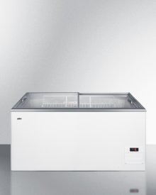Flat Top Commercial Ice Cream Freezer With Sliding Glass Lid, Digital Thermostat, Novelty Baskets, and 14.1 CU.FT. Capacity