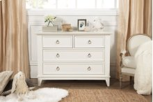 Warm White Emma Regency 4-Drawer Dresser