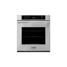 """Heritage 27"""" Single Wall Oven in Stainless Steel - ships with Epicure Style stainless steel handle with chrome end caps."""