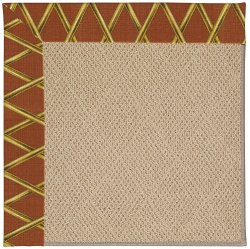 Creative Concepts-Cane Wicker Bamboo Cinnamon Machine Tufted Rugs