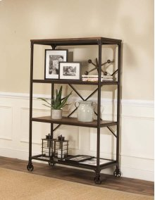 W3075-88  Craft Rustic Elm Wide Bookcase