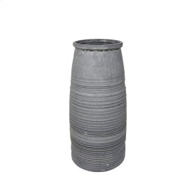 """Ceramic 13.75"""" Vase, Gray"""