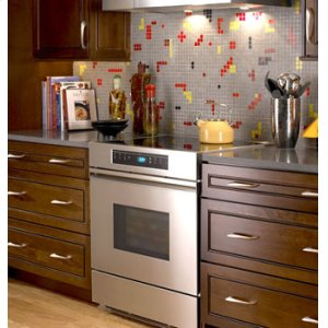 """Renaissance 30"""" Electric Range, in Stainless Steel with Black Ceramic Glass Top"""