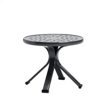 "Quantum 18"" Round Occasional Table, Nova Aluminum Top"