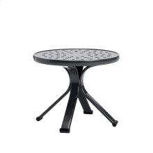 """Quantum 18"""" Round Occasional Table, Nova Aluminum Top"""