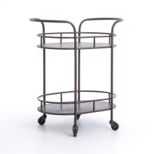 Teague Oval Bar Cart