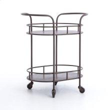 Teague Oval Bar Cart