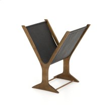 Black Finish Feldman Magazine Rack