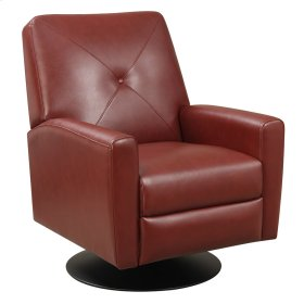 Swivel Recliner Kd Cranberry Red/black Base
