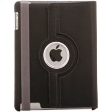 Polaroid Hard Shell iPad 2 and iPad 3 Rotating Folio Case, Black - PAC100BK