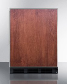 Built-in Undercounter ADA Compliant Refrigerator-freezer for General Purpose Use, W/dual Evaporator Cooling, Ss Frame for Slide-in Panels, and Black Cabinet