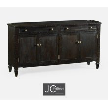 "34"" Four-Door Dark Ale Sideboard"