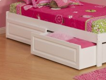 Two Raised Panel Bed Drawers Twin/Full in White