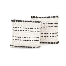"20x20"" Size Grey Patterned Pillow, Set of 2"