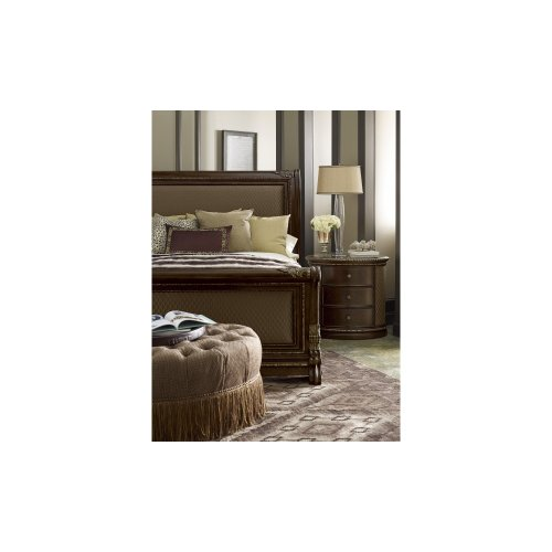 Gables Queen Upholstery Sleigh Bed