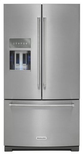 26.8 cu. ft. 36-Inch Width Standard Depth French Door Refrigerator with Exterior Ice and Water - PrintShield Stainless