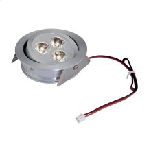 Tiro 3-Light Directional Downlight in Brushed Aluminum with Clear Acrylic Diffuser - Integrated LED