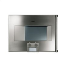 """200 series Combi-steam oven BS 271 611 Stainless steel-backed full glass door Width 24"""" (60 cm) Left-hinged Controls at the bottom"""