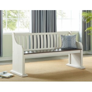 """Steve Silver Co.Joanna Bench with Back 67.5""""x23""""x35"""""""