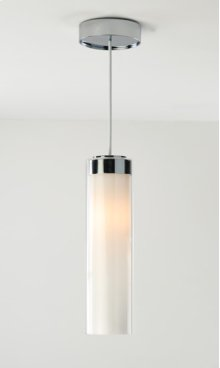FLUORESCENT CIRC SINGLE PENDANT - BRUSHED NICKEL