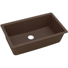 "Elkay Quartz Classic 33"" x 18-7/16"" x 9-7/16"", Single Bowl Undermount Sink, Mocha"