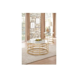 Brassica Round End Table