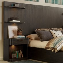 Precision - Tall Pier Nightstand - Umber Finish