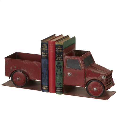 Distressed Red Truck Bookend Pair (1 pair)
