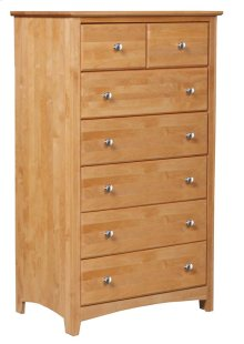 Alder Shaker 7 Drawer Chest
