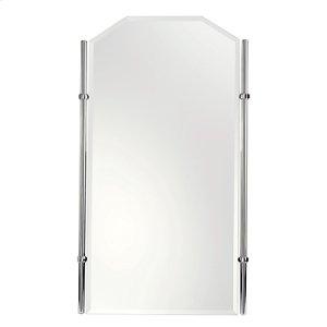 "Polished Chrome 26"" x 36"" Large Framed Mirror"