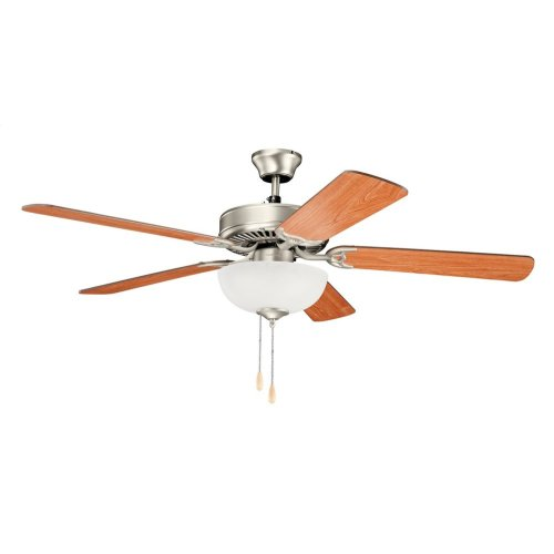 "Basics Select 52"" Fan Brushed Nickel"