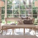 Klismos Bench-Beige Leather Product Image
