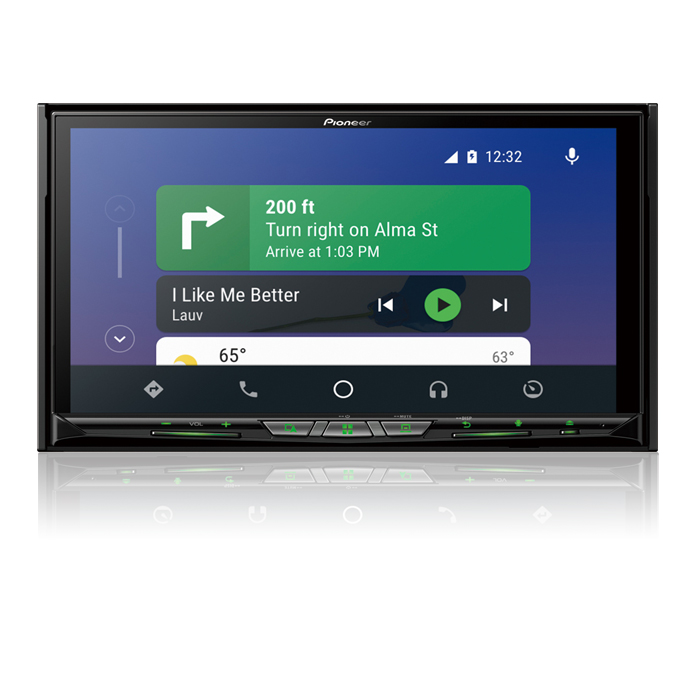 Flagship In-Dash Navigation AV Receiver with 6.94 ? WVGA Capacitive Touchscreen Display