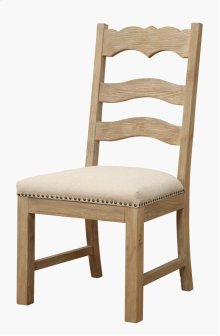 Emerald Home Barcelona Ladderback Side Chair Natural With Linen Upholstery D551-22