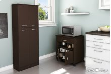 Microwave Cart on Wheels - Chocolate