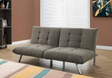 FUTON - SPLIT BACK CONVERTIBLE SOFA / TAUPE LINEN