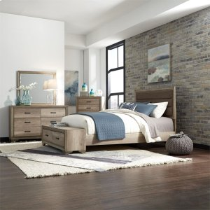 Liberty Furniture Industries Queen Storage Bed, Dresser & Mirror, Chest