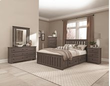 4-Drawer Panel Captains Bed - King