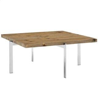 Diverge Wood Coffee Table in Brown