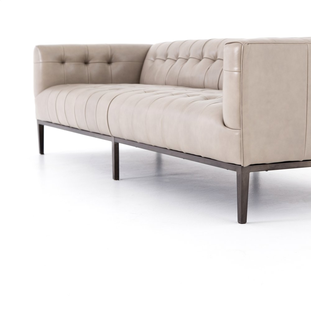 Incroyable Dusty Stone Cover Marlin Leather Sofa